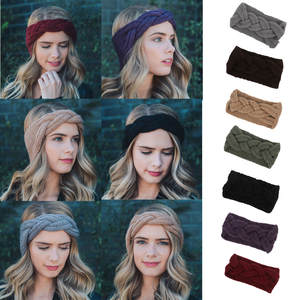 MUQGEW Women Winter Big Knit Headband Girl Turban Bow Knot