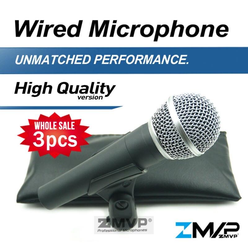 Freies Verschiffen! 3 teile/lose Hohe Qualität Version 58 LC Verdrahtete Gesang Karaoke Hand Dynamisches Mikrofon 58LC Microfone Mic