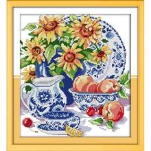 Cross-Stitch-Kits Christmas-Decorations Fabric Sunflower CT Everlasting Love Chinese