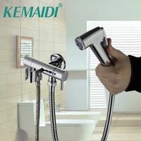 KEMAIDI Bathroom Bidet Faucet Toilet Bidet torneira Hand Spray Wall Mount With Single Water Way&Single Handles Tap
