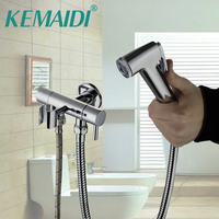 KEMAIDI Bathroom Bidet Faucet Toilet Bidet torneira Hand Spray Wall Mount With Single Water Way&Single Handles Tap