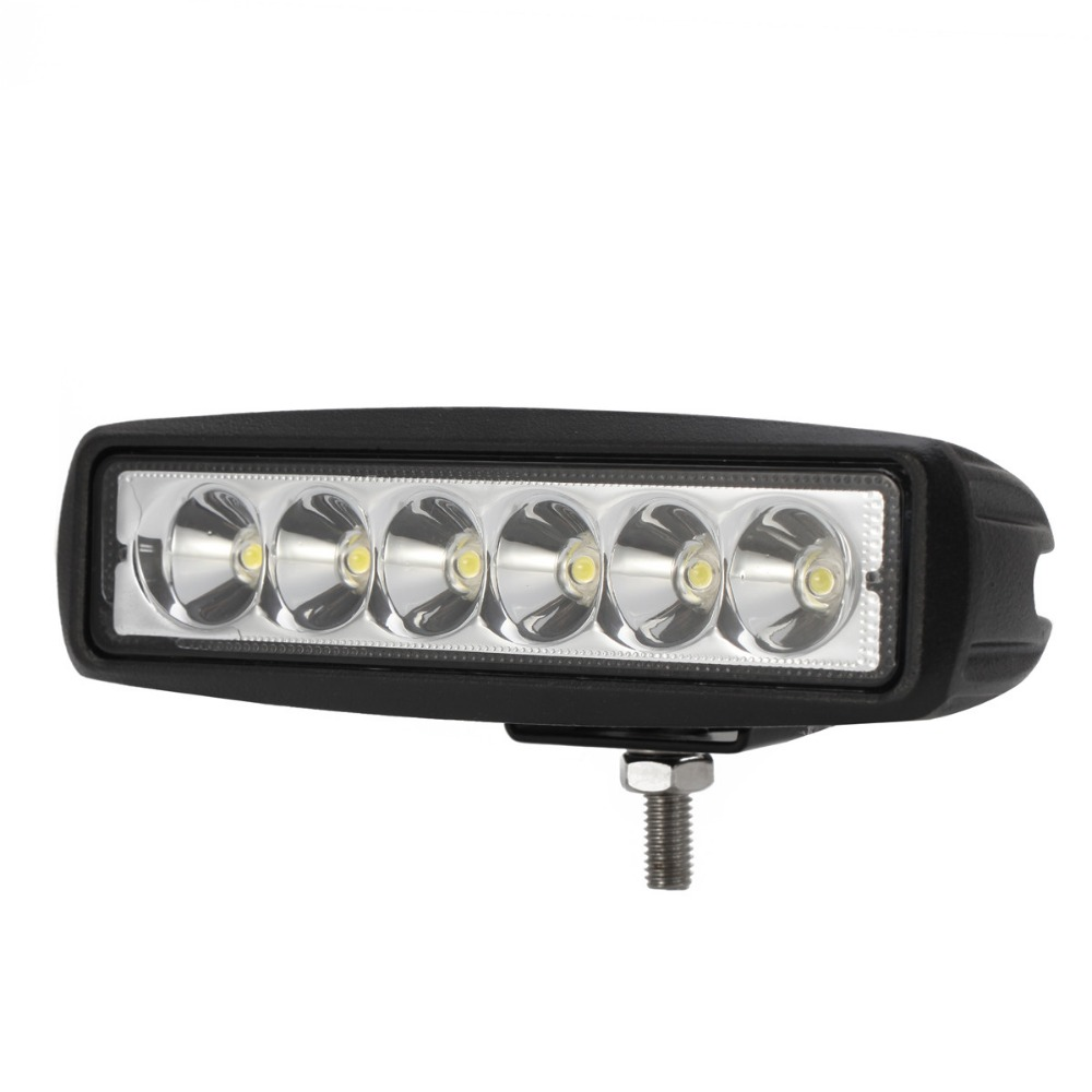 18W LED WORK LIGHT BAR 12V 24V SPOT FLOOD DRL FOG LAMP CAR SUV ATV 4X4 4WD UTE TRUCK TRAILER CAMPER BUMPER WAGON AUTO HEADLIGHT