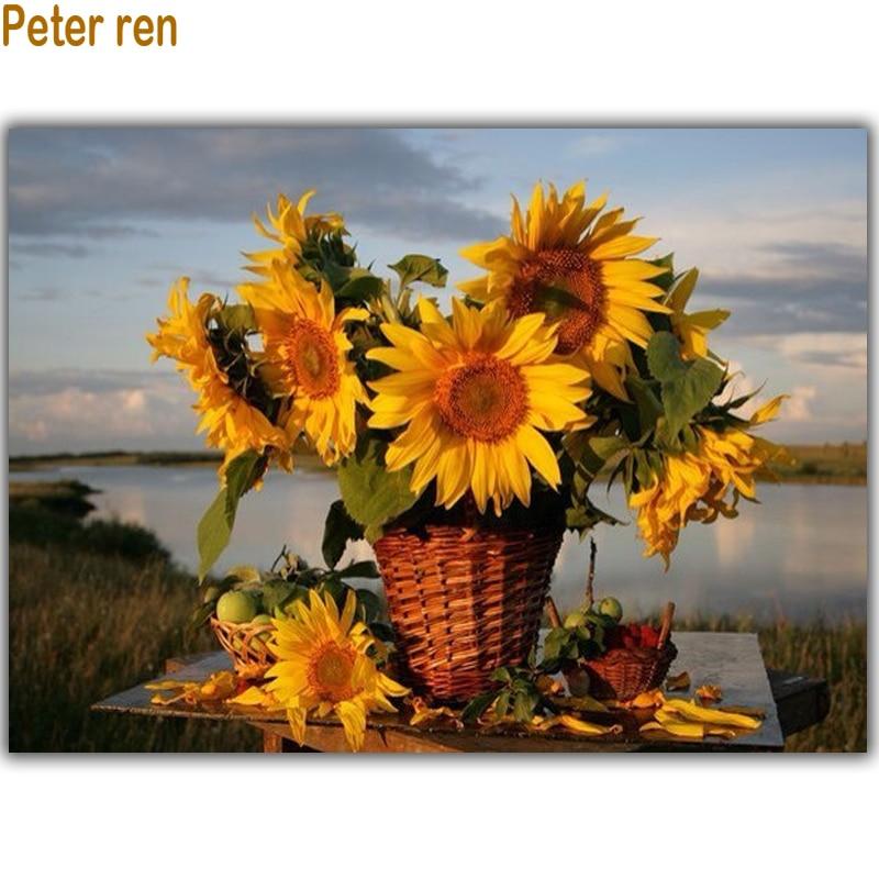 Peter ren Elmas boyama kare matkap taklidi Elmas mozaik çapraz - Sanat, el sanatları ve dikiş