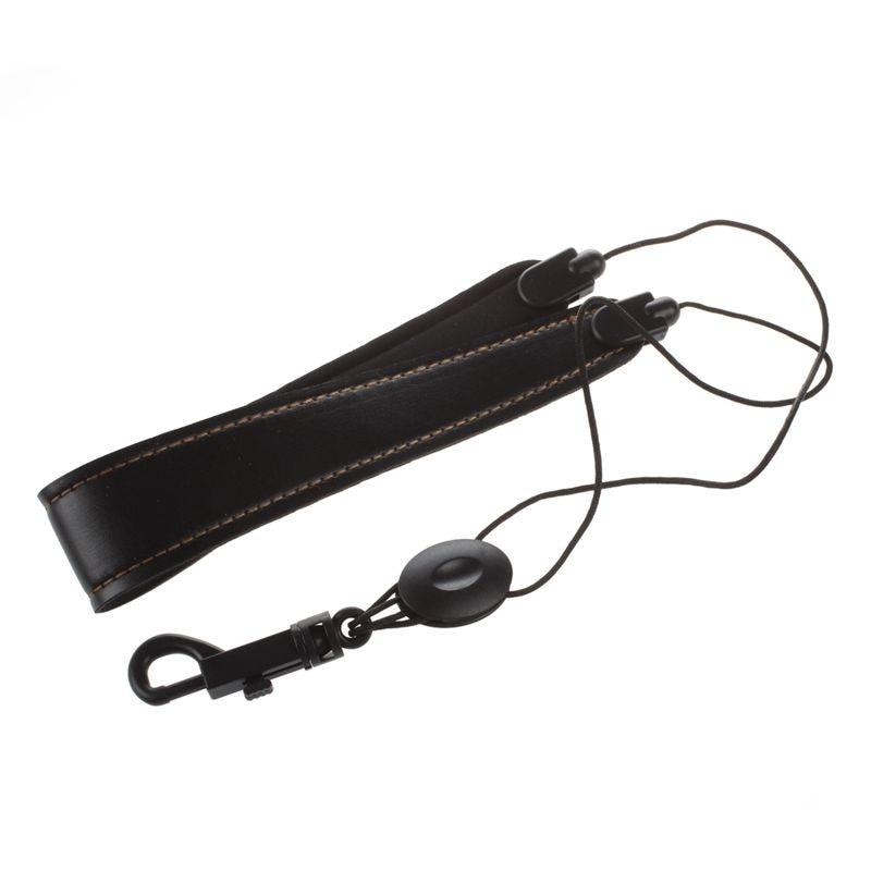 Adjustable Saxophone Strap Leather Nylon Padded Black