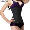 Body Waist Trainer Shapers Underbust Belt Weight Loss Corset  Girdle Body Control Cincher Fat Burne(4 Steel Bone )