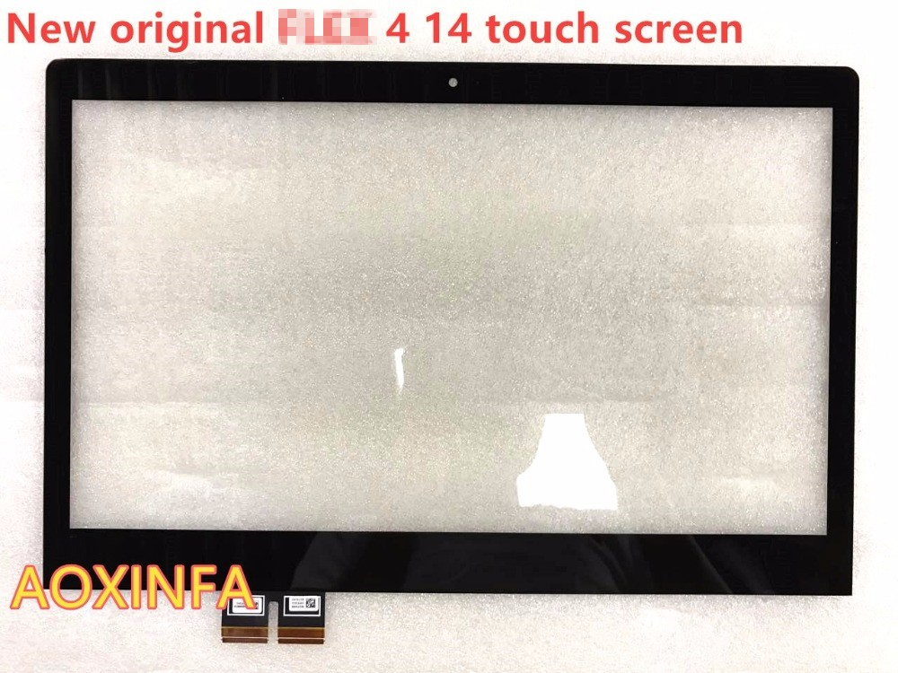 free shipping 100% New 14 For Lenovo Flex4-14 Flex 4-14Flex 4 14 Touch Screen Glass Replacement with Digitizer