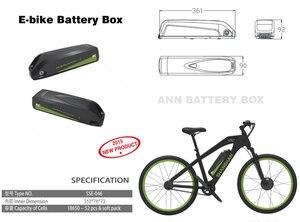 Image 2 - E Bike 48V 36V Lithium Batterij Doos Down Buis Elektrische Fiets Batterij 36V/48V hailong Case Met Gratis 18650 Houder