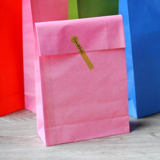 Plain Kraft Paper Bags Gift Sandwich 32x18x7 5cm 30pcs Lot In Wring Supplies From Home Garden On