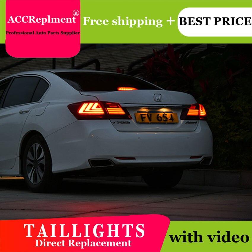 4 pièces voiture style pour Honda Accord feux arrière 2011-2014for Accord feu arrière LED + clignotant + frein + lumière LED inverse