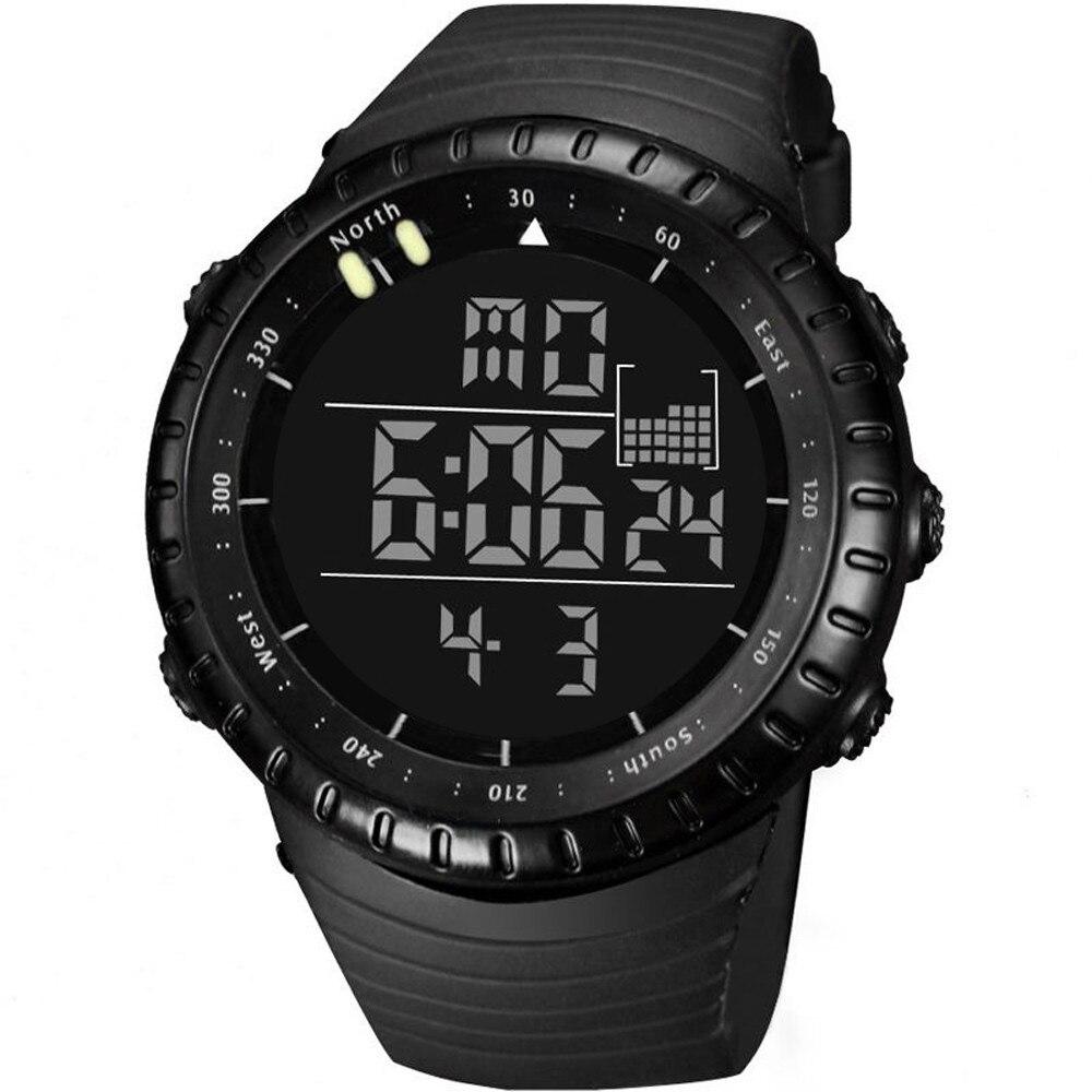 Zegarek Meskie Sports Analog Digital Silicone Sport LED Waterproof Wrist Watches Woche Men  TC