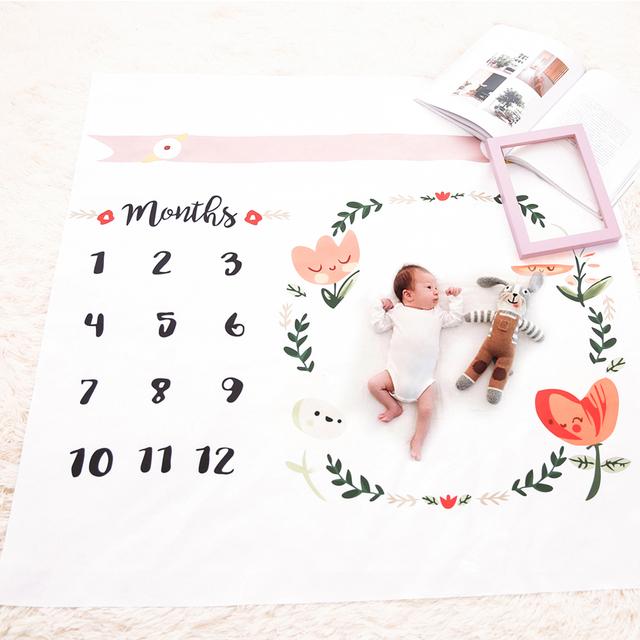 100*100cm Baby Blanket Swaddle Wrap Newborn Fashion Bathing Towels Flower Printed Cute Soft Newborn Photo Props Blanket