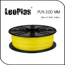 Worldwide Fast Delivery Manufacturer 3D Printer Material 1kg 2.2lb 3mm Glow In Dark Yellow PLA Filament