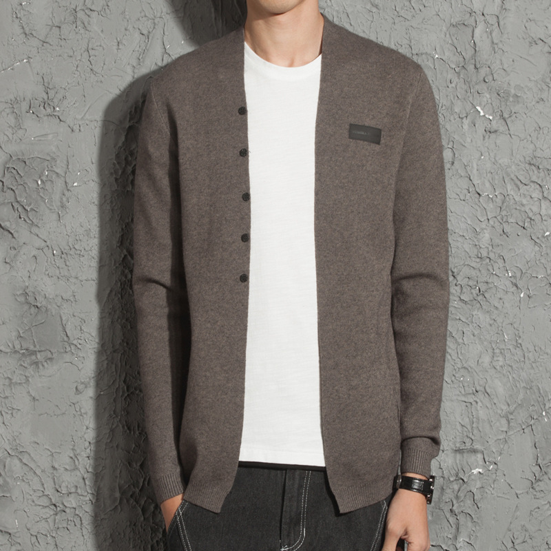 Spring and autumn models Men Self-cultivation Sweater coat youth Korean version male Outer wear Clothing line Cardigan tide