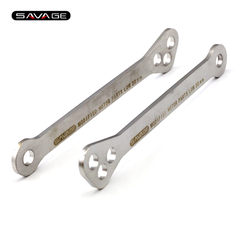Lowering Links Kit For SUZUKI GSF 600/650/1200/1250 N/S/A/Z/FA/SA BANDIT Motorcycle Rear Cushion Lever Drop Link Kits 530 120 brand new unibear motorcycle drive chain 530 gold o ring chain 120 links for suzuki gsf 650 s bandit drive belts