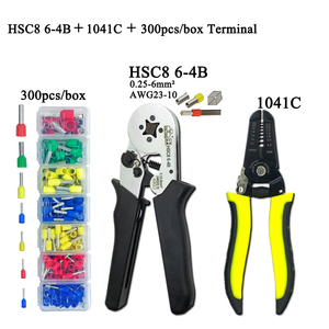 Image 2 -   Electrician Pliers Junction Box Mini Pliers Tool Kit HSC8 6 4 0.25 6mm2 23 10AWG Crimping Wire Stripping:10 24awg 0.2 6.0mm2