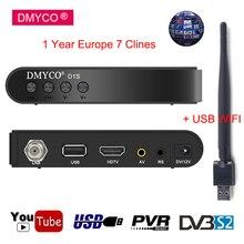 1 Year Clines 7Line europe Spain Receptor D1S DVB S S2 Satellite Receiver H 264 HD