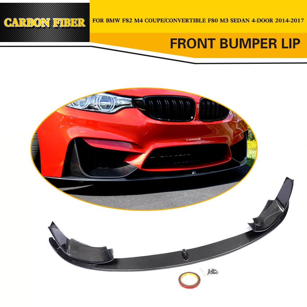 Carbon Fiber Racing Front Lip Splitters Car-Styling for BMW F80 M3 F82 M4 2014-2017