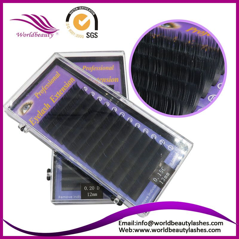 New Products! 4 Trays/lot Cashmere flat/matte Ellipse soft thin eyelash extenison