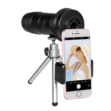 Compact Zoom Monocular Telescope for Phone 8-24x40 with Tripod Portable Outdoor Camping Hiking Hunting Bird-watching