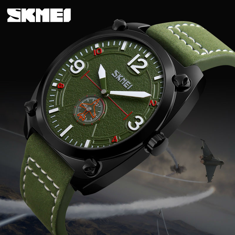 SKMEI Man Quartz Watch Men Clock Leather Male Fashion Casual Watches Relojes Waterproof Mens Wristwatches Relogio Masculino 9155 skmei 1078 men quartz watch