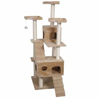 Cat Furniture Cat Scratching Toy Wood Climbing Tree Cat Jumping Toy With Ladder Climbing Frame Scratching