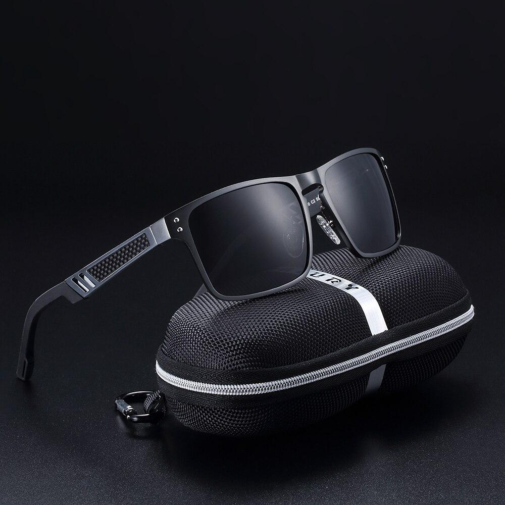 BARCUR Hohe Qualität Sonnenbrille Männer Aluminium-Magnesium-Sonnenbrille Fahren Männlichen Brillen Anti Glare Fahren