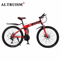 ALTRUISM X9 Mountain Bike Steel Floding Bicycle 24 Speed 26 Inch Bicicleta Bisiklet Bmx Double Disc