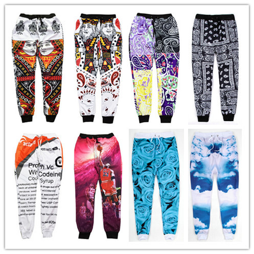 2017 New 100 Emoji joggers Pants White Blue Figure Women/Men/Girl/Boy Sweatpants Cartoon Outfit Clothes Trousers Drop Shipping