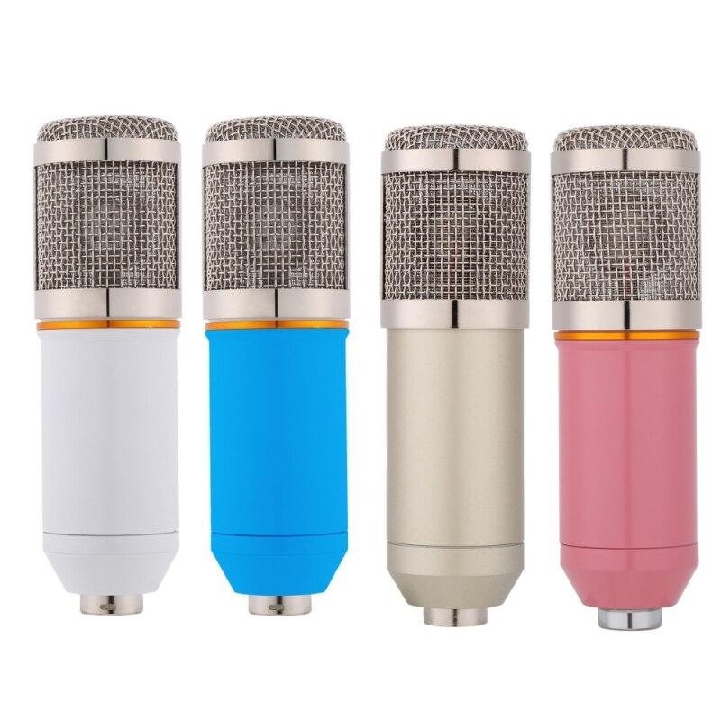 Micro professionnel à condensateur BM-800 pour ordinateur Audio Studio enregistrement Vocal micro KTV karaoké avec support de Microphone