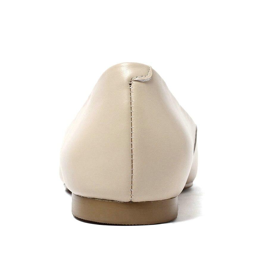 slip patchwork scarpe donne punta bianco signorina 43 2019 dimensioni confortevole a per primavera le autunno superficiale nero 34 punta piatti Esveva on basse q75nnY