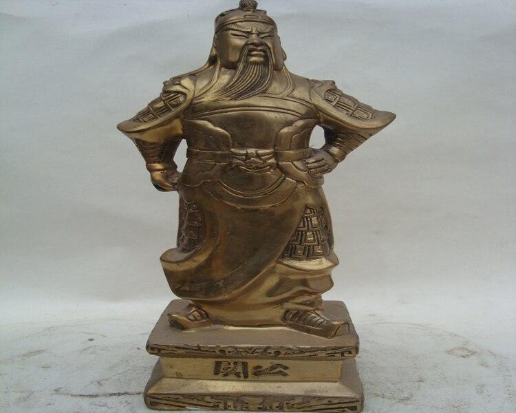 A copper copper Baozhai font b knife b font copper ornaments Guan Guan Yu statues bronze