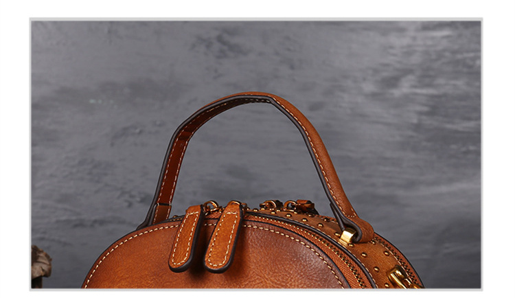 18 Luxury Women Genuine Leather Handbags Ladies Retro Elegant Shoulder Messenger Bag Cow Leather Handmade Womans Bags 12