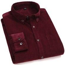 new arrival cotton Corduroy long sleeve button collar qualit