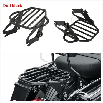 Motorcycle Detachable Two Up Pack Mounting Luggage Rack For Harley Touring Street Glide Road Glide 2009-2018 for harley touring road king street glide electra glide detachable backrest sissy bar with stealth luggage rack 2009 2018 2019