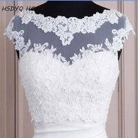2016 Free Shipping White Hot Sales White Tulle With Appliques Tank Bridal Wedding Bolero Bridal Jacket