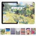 "Nova Moda Ultra Slim HD Pintura Patterns Luxo Folio Virar Capa de couro Smart Cover Para Amazon Kindle Voyage 2014 6"""