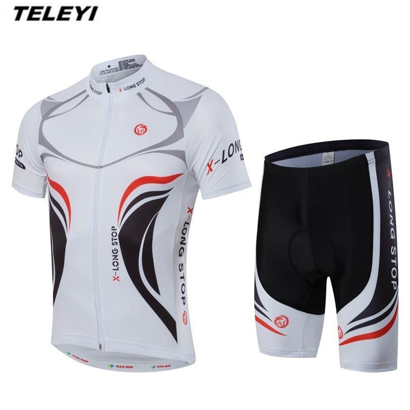 Prix pour Nouveau Blanc Pro Vélo Jersey Hommes Vélo Vêtements Vêtements Ropa Ciclismo Vélo Jersey shorts Set VTT Top Vélo Chemises Rapide sec