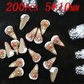 200 pcs 10x5mm ice-cream decoração de unhas adesivos para unha cor de café