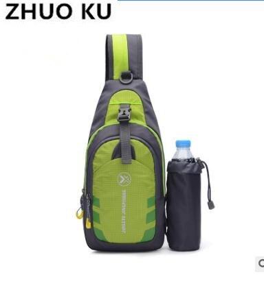 Korean version of the outdoor chest bag female multi-function kettle shoulder bag Travel sports Messenger bag men's nylon chest