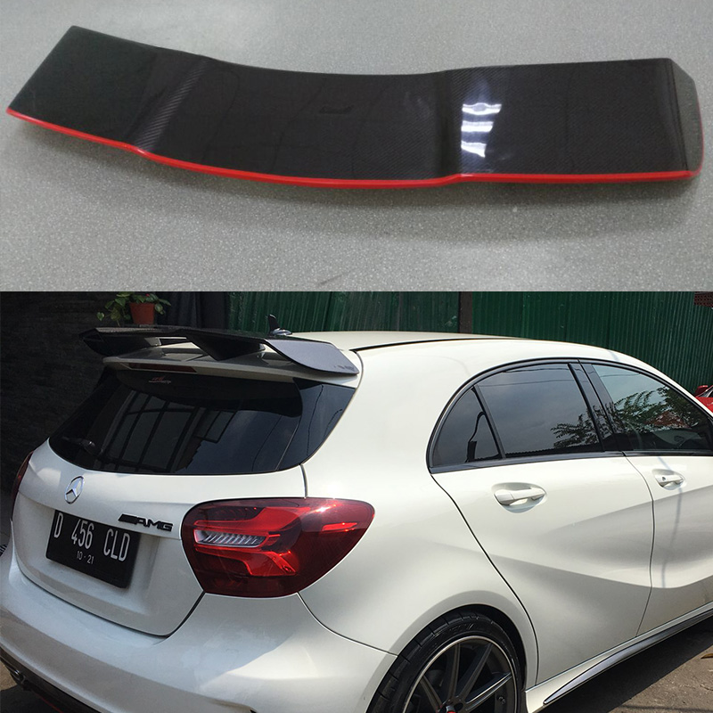 A-Class W176 A-Class W176 A250 A260 A45 AMG Red Line Carbon Rear Roof Spoiler Car Wing For Mercedes-Benz 2013 2014 2015