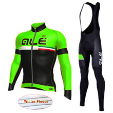 check price Maillot Ciclismo 2018 Pro team Winter long sleeve cycling jersey bike bib pants set thermal fleece mtb bicycle sportswear L2503 Sale Best Quality