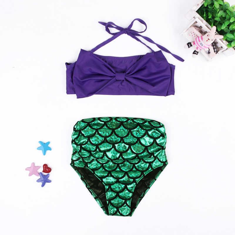 804fa18747 ... Girls Swimwear Mermaid 2017 Cute Baby Bikini Sets Children Bathing Suit  Girls Suspender Tops+ Shorts Kids ...