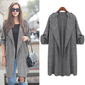 2016 Autumn Plus Size Korea Fashion Women Coats V-Neck Female Long Sleeve Outwears Cardigan Jackets Hot Selling 61222060