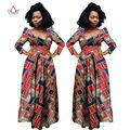 2017 brw riche bazin africano dashiki tela vestidos de áfrica cera de impresión estilo de la moda de ropa de tallas grandes para mujer vestidos wy813