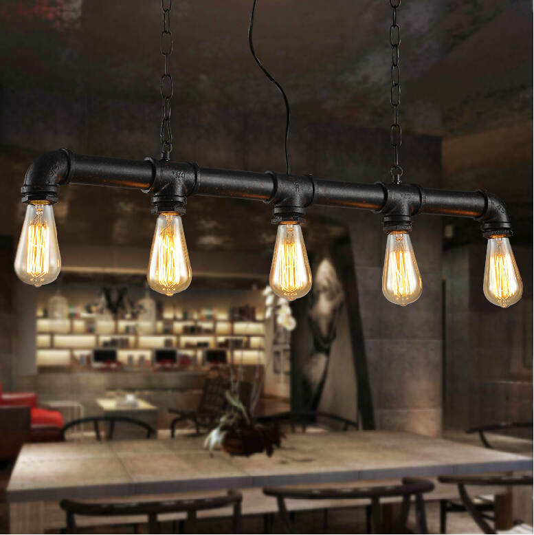 loft industrial style coffee shop retro chandelier lamp is. Black Bedroom Furniture Sets. Home Design Ideas