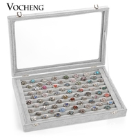 Vocheng Black Gray Red Jewelry Display Box 5 Styles Storage Case Fit Bracelet and Snap Charm NN 431