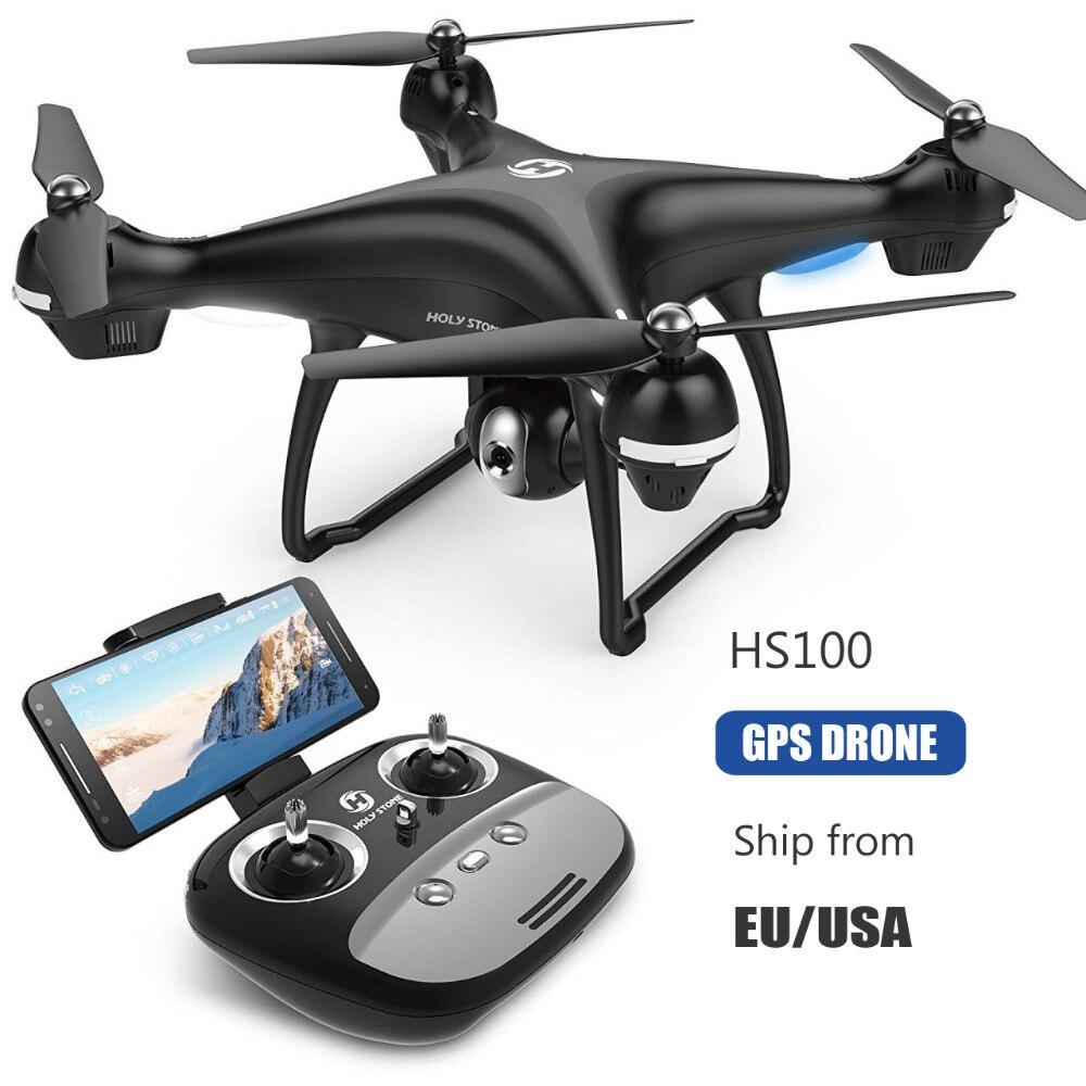 [UE USA Stock] Saint Pierre HS100 GPS FPV RC Drone Grand Angle 720 p 1080 p Wifi Caméra FPV Long Fly 7.4 v 2500mA batterie APP Contrôle