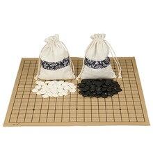 Weiqi go jogo de melamina de alta qualidade, peças de camurça, pano, gobang, padrão internacional, para go, gomoku, jogos de tabuleiro