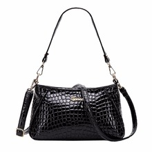 Embossed PU Leather Shoulder Bag Women Snake Crocodile Leopard Printing Hand Bag Ladies Classic Stylish font