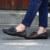 Slipony YIQITAZER 2017 nuevo diseño de la borla de otoño pisos holgazanes del hombre, resbalón en lofer zapatos de cuero para hombre negro blanco tamaño 7-9.5